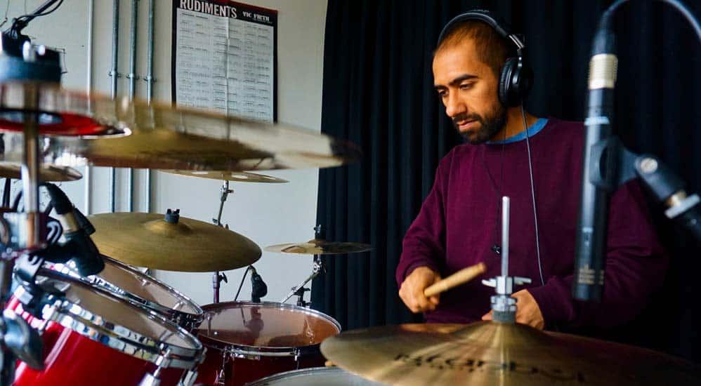 Stoke Newington drum teacher Az Khan