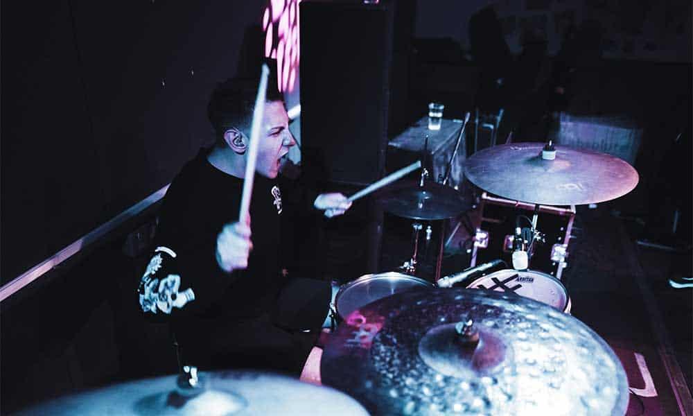 Drum Helper's Gideon Waxman performing live