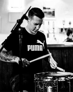 Drum Helper founder Gideon practising rudiments